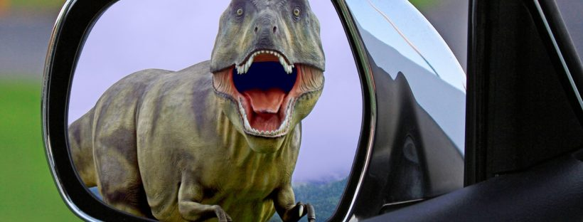 T Rex in the rear view